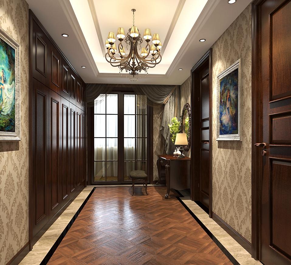 现代美式风格墙板的颜色也可以和周围的背景相衬托,更显爽利.图片